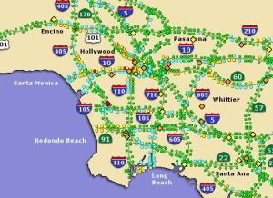Sigalert | Wanderus - Travel Tips for the Traveling Wanderlust on san gabriel mountains california map, la live map, caltrans sigalert los angeles map, los angeles county, l.a map, 511 traffic los angeles map,